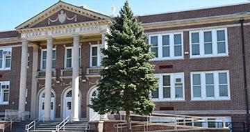 Exterior of Clara H. Carlson elementary school