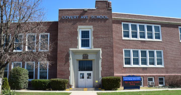 Exterior of Covert Avenue Elementary School
