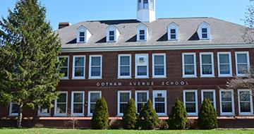 Exterior of Gotham Avenue Elementary School