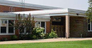 Exterior of Stewart Manor Elementary School